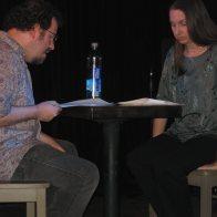 Ian & Ki rehearse at 2012 Boog's Poetry Theatre