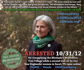 Jill Stein arrested at Tar Sands Meme