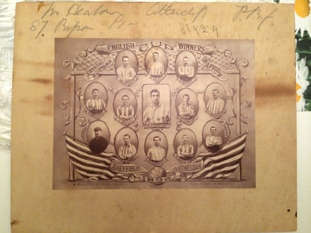 Sheffield Wednesday 1896 English Cup Winners