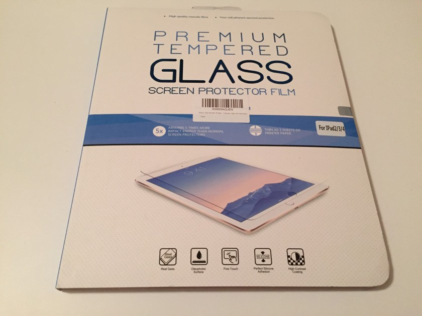 iPad screen protector packaging