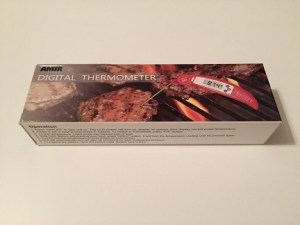 Meat thermometer box