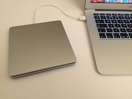 Drive Plugged Into A MacBook Air