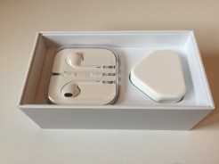 Earphones and Charger in Box
