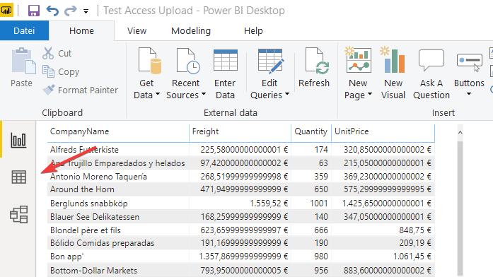 Power BI Desktop Report View