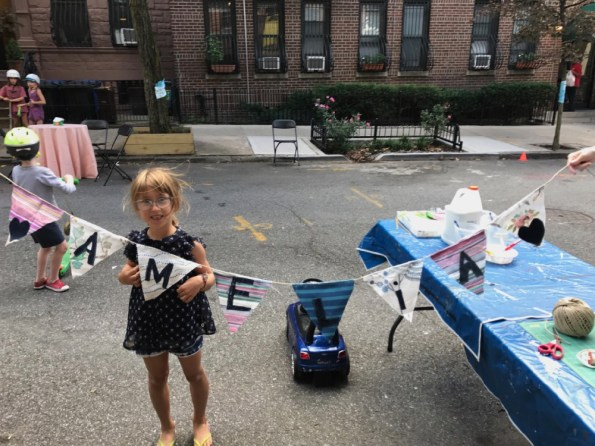 Amelia's bunting from the block party