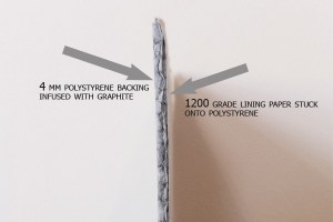 graphite lining paper side