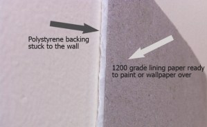 insulating lining paper back and front
