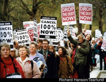 Jubilee 2000 debt cancellation campaign, London 1999.