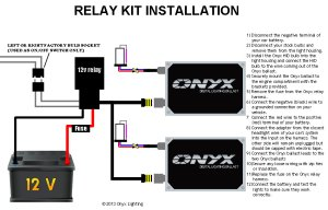 Relay HID Conversion Kit Installation Guide  Single Filament With Relay | Onyx Performance Lights