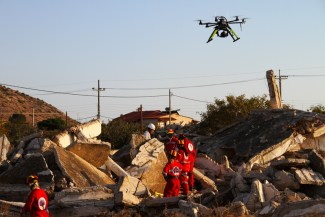 OnyxStar search & rescue drone - earthquake SAR support