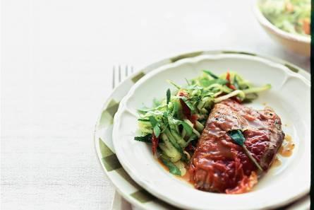 Saltimbocca met courgettesalade