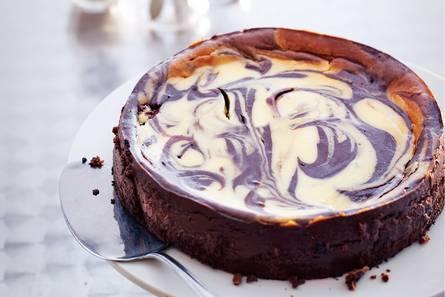 Gemarmerde chocoladecheesecake