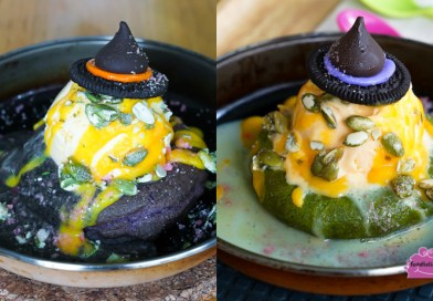 Creamery Boutique Ice Creams – Halloween Lava Cookies with Orange Pumpkin Ice Cream