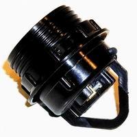 Lamphouder E27 zwart met 1 ring Tbv Schroefrand