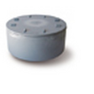 PVC Eindstuk + Schroefdeksel grijs 50mm