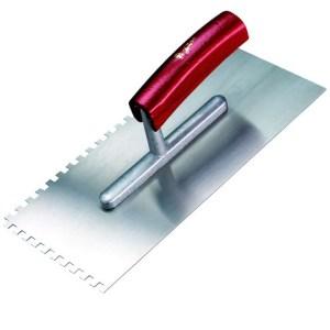 Melkmeisje plakspaan 2 zijdig getand 6mm 280x130 mm