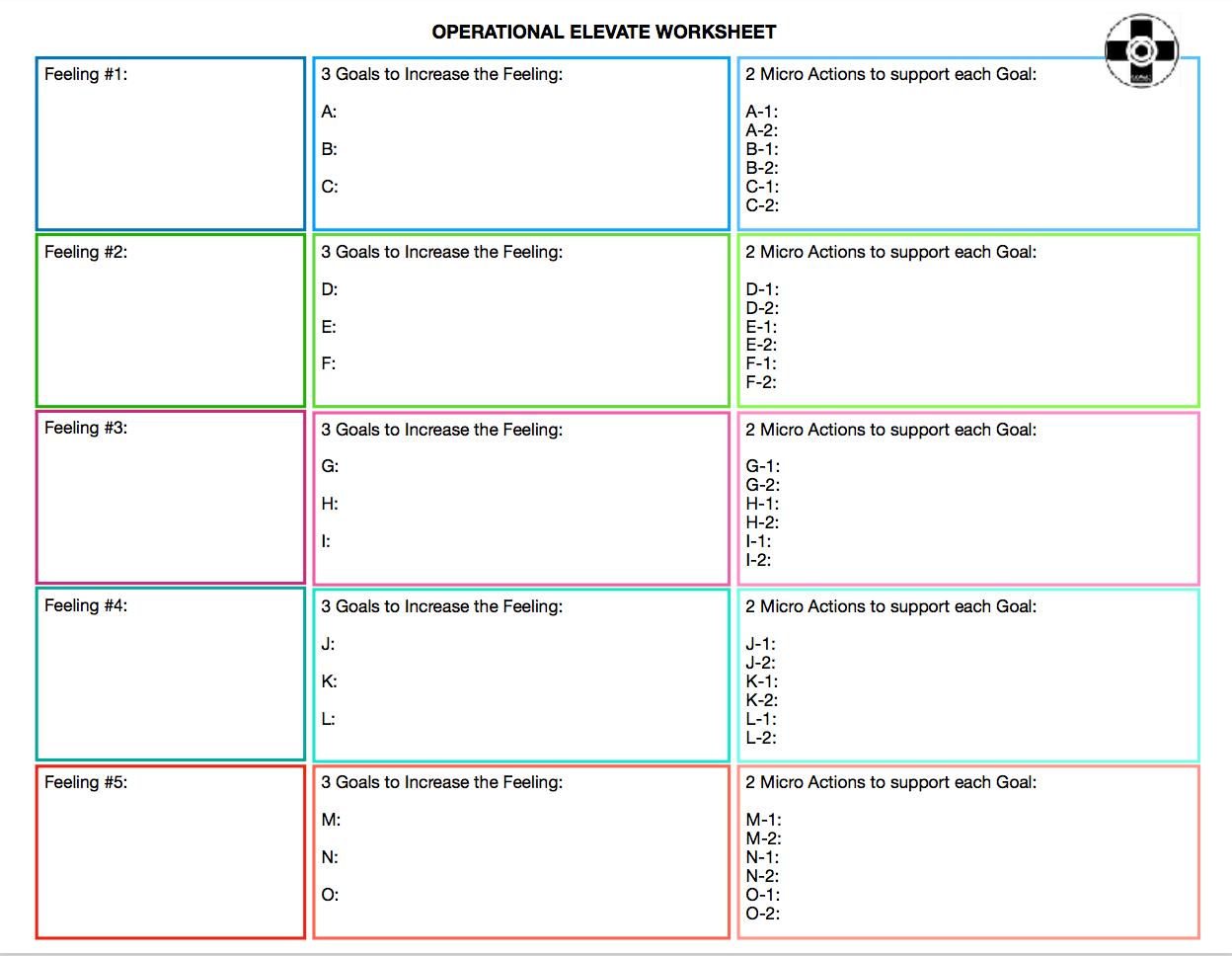 Operations Elevate Worksheet