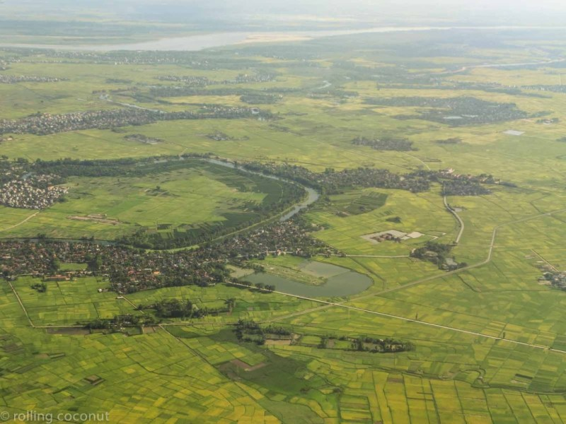 vietnam view from the sky itinerary photo rolling coconut ooaworld