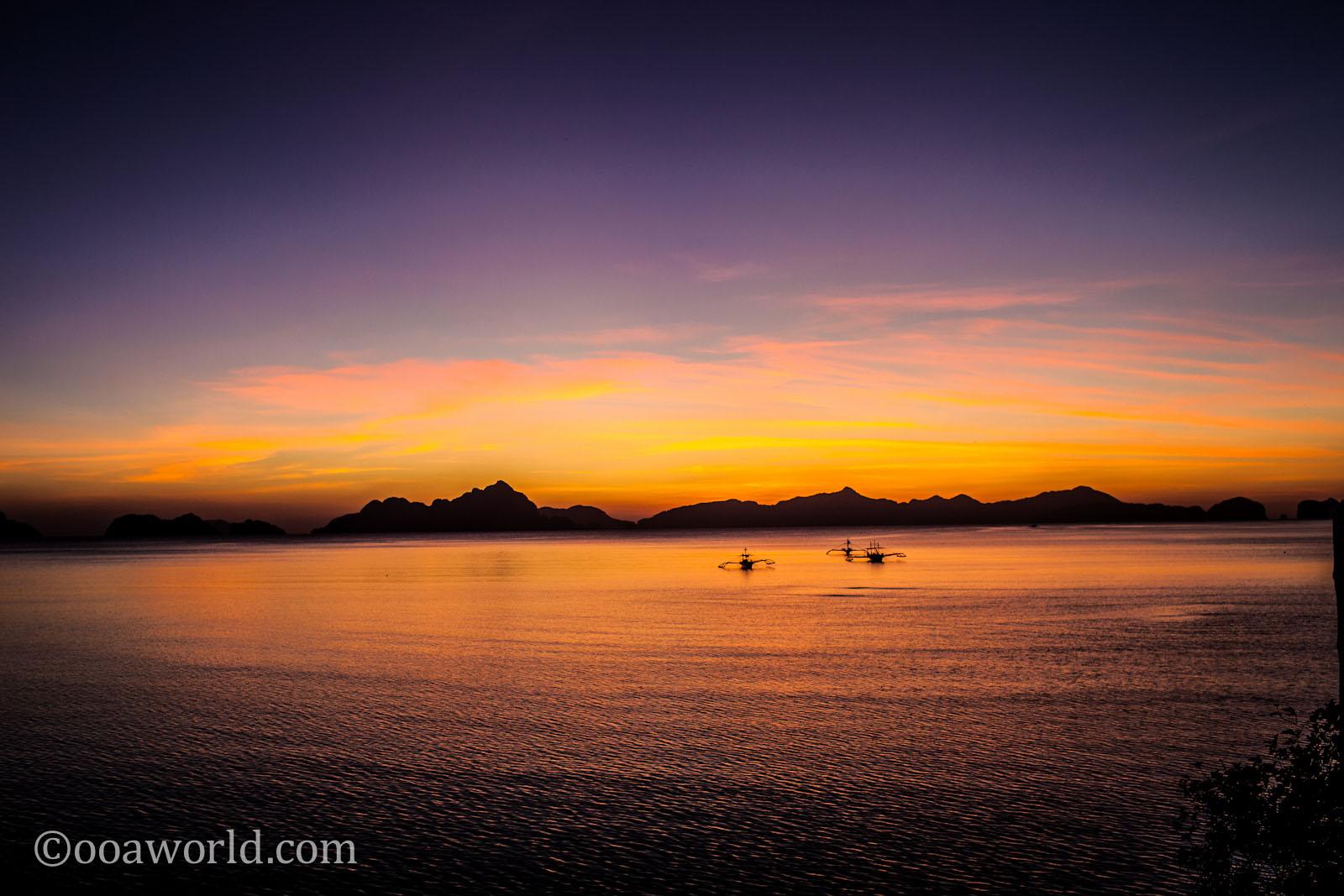 El Nido Sunset Palawan Philippines 4