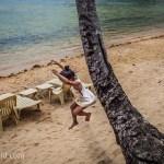 Girl Jumps El Nido Palawan