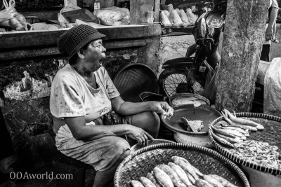 Jakarta Market Fish Yawn Photo Ooaworld