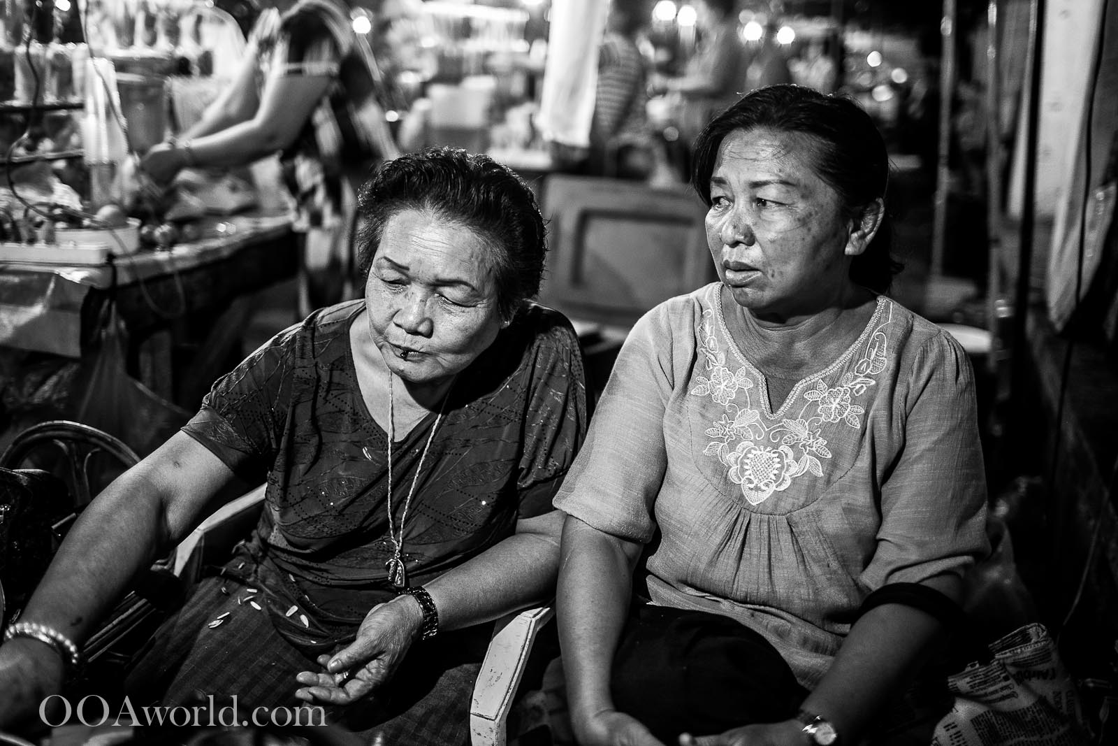 Women Luang Prabang Night Food Market Photo Ooaworld