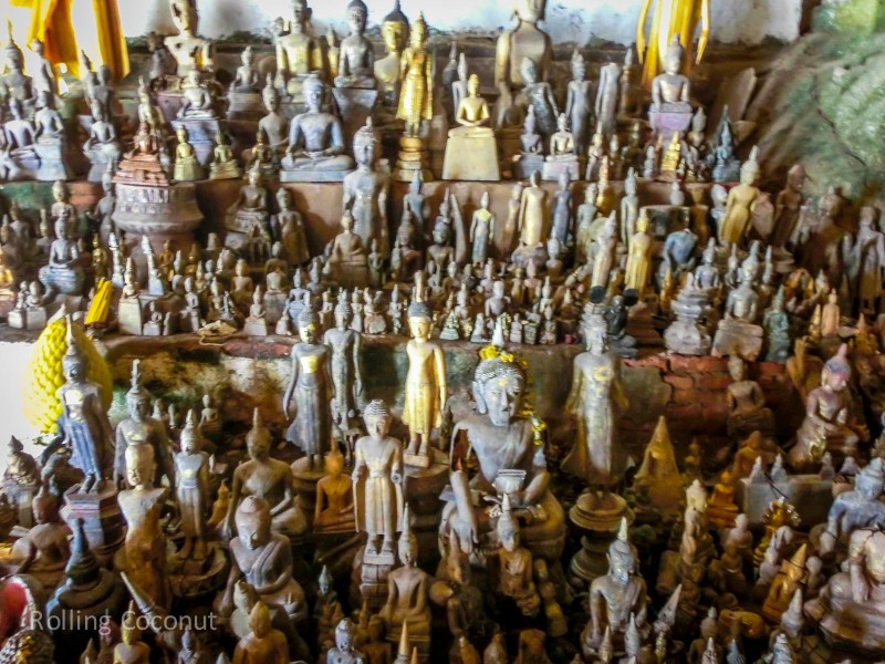 Pak Ou Cave Buddha Statues Luang Prabang Laos Rolling Coconut Ooaworld Photo Ooaworld