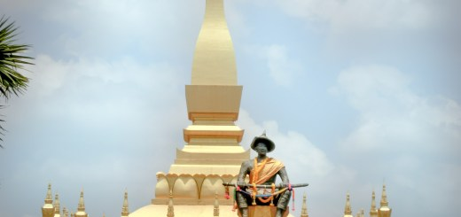 Pha That Luang Stupa Statue Vientiane Laos Rolling Coconut Ooaworld Photo Ooaworld