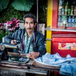 Street Sewing Machine Indonesia Photo Ooaworld