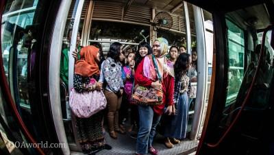 Women Line BRT Jakarta Photo Ooaworld
