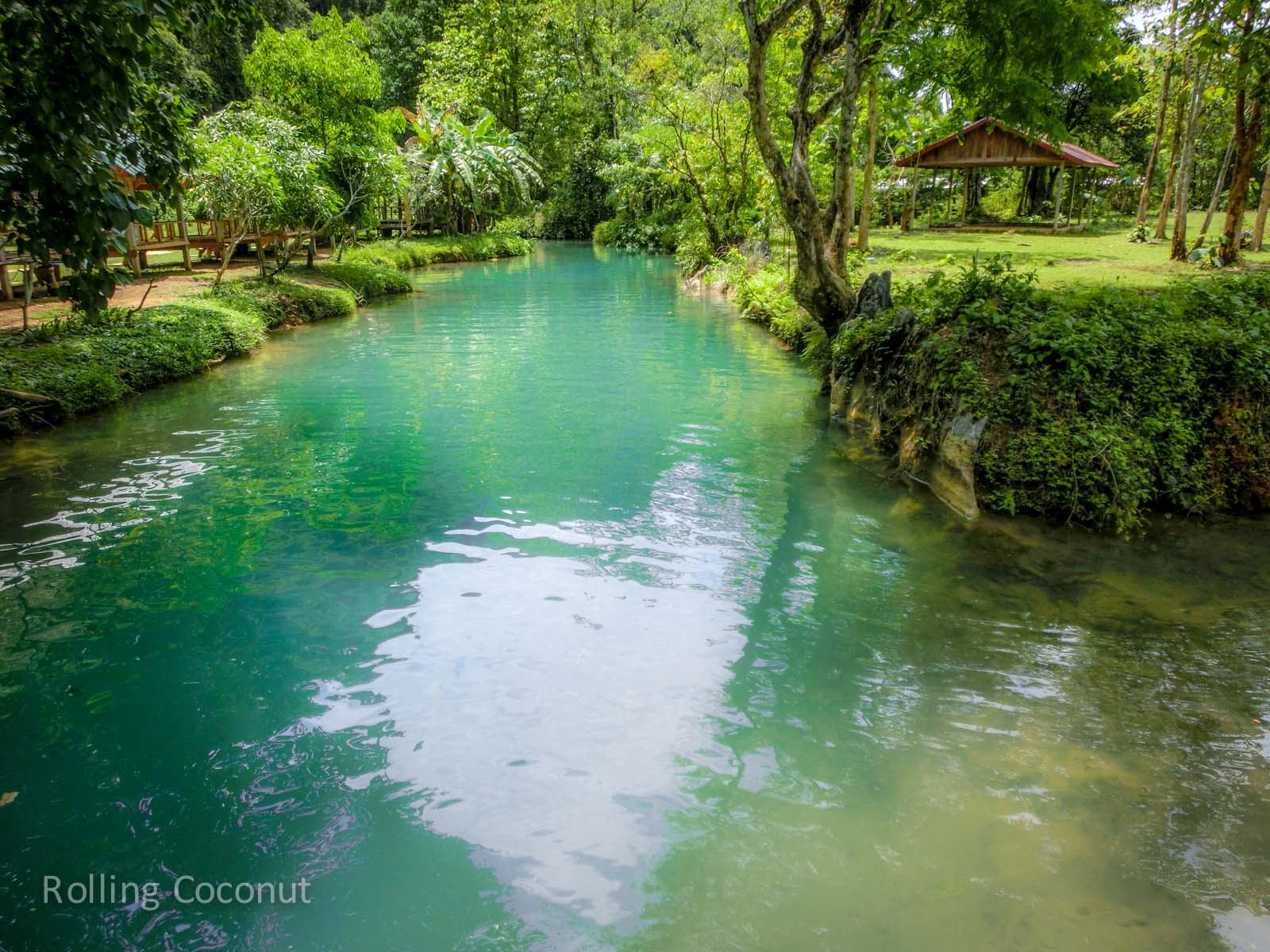 Blue Lagoon Vang Vieng Laos Rolling Coconut Ooaworld Photo Ooaworld