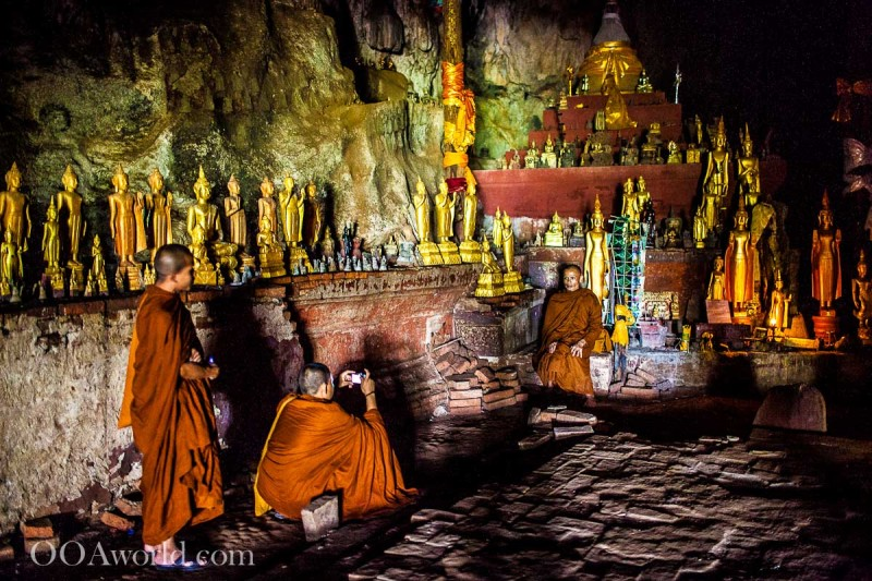 Monks Photo Pak Ou Cave Luang Prabang Laos Photo Ooaworld