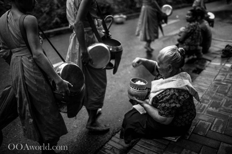 Tak Bat Luang Prabang Photo Ooaworld