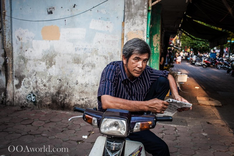 Reading Moped Vietnam Photo Ooaworld