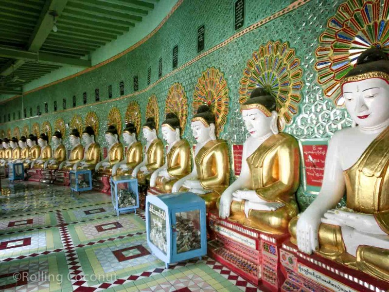 Row Buddhas Sagaing Hill Myanmar Photo Ooaworld