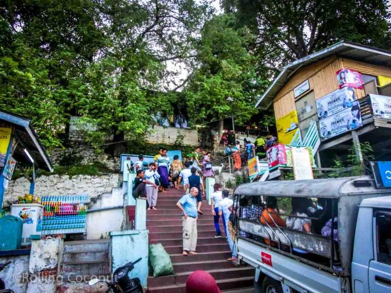 Stair at Mandalay Hill, Myanmar Photo Ooaworld