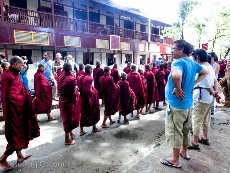 Tourists Maha Aung Mye Bon Zan Monastery Mandalay Myanmar Photo Ooaworld
