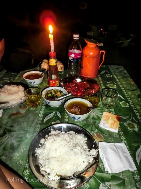 Kalaw Inle Lake Trek Myanmar Dinner in the Dark Meal Photo Ooaworld