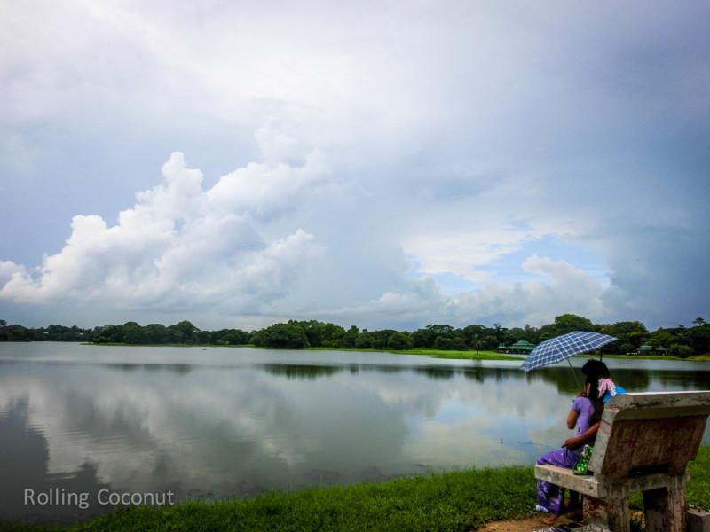 Couple Inya Lake Yangon Myanmar ooaworld Rolling Coconut Photo Ooaworld