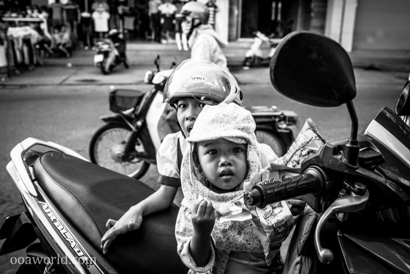 Kid Riders Hue Vietnam Photo Ooaworld