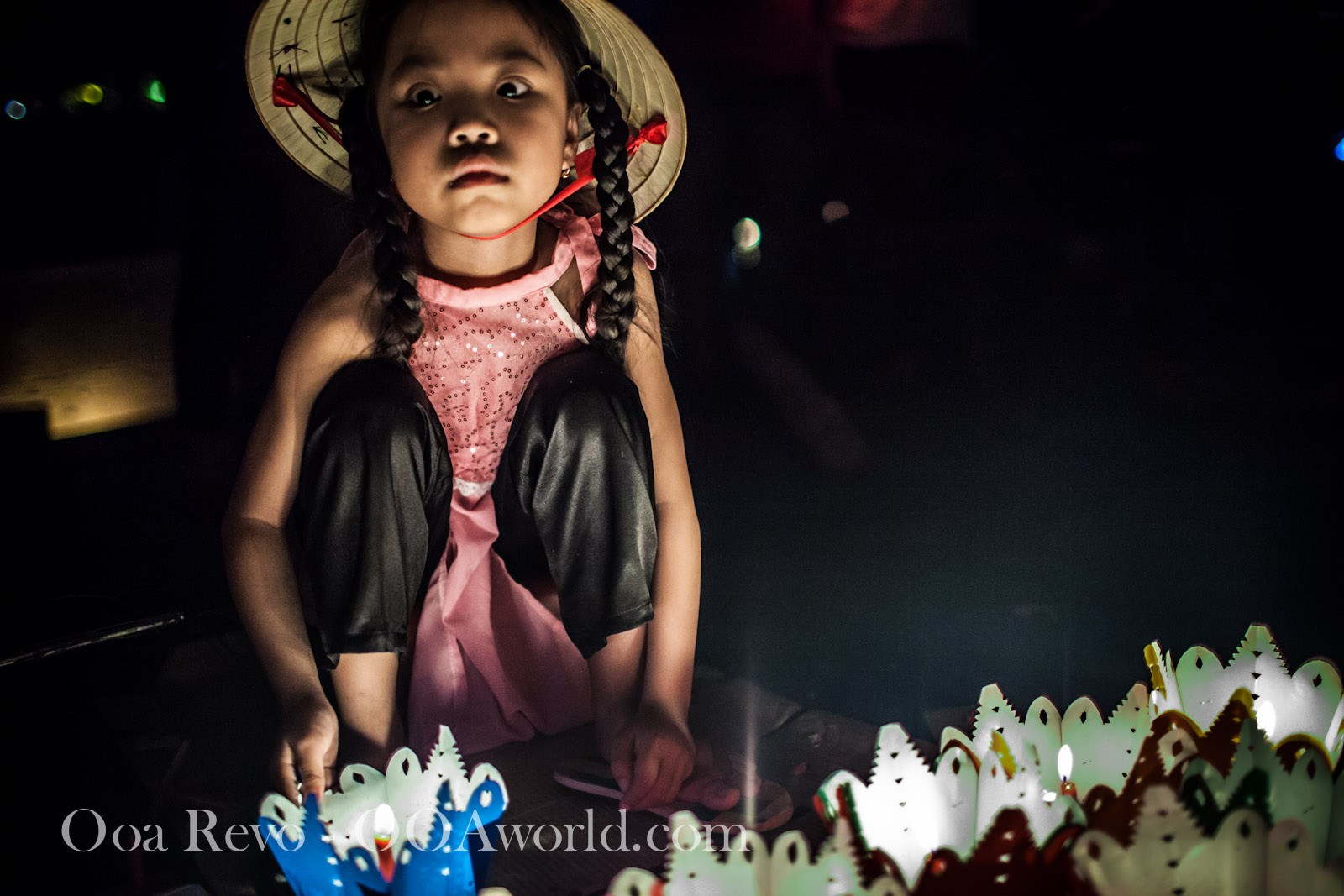 Hoi an Lantern Festival Portrait Braided Girl Photo Ooaworld
