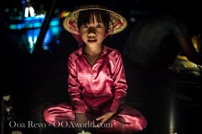 Hoi an Lantern Festival Portrait Pink Girl Photo Ooaworld
