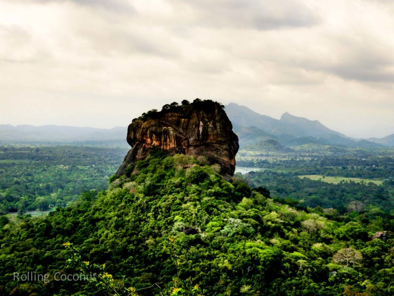 Sigiriya View Travel Ooaworld Rolling Coconut Photo Ooaworld