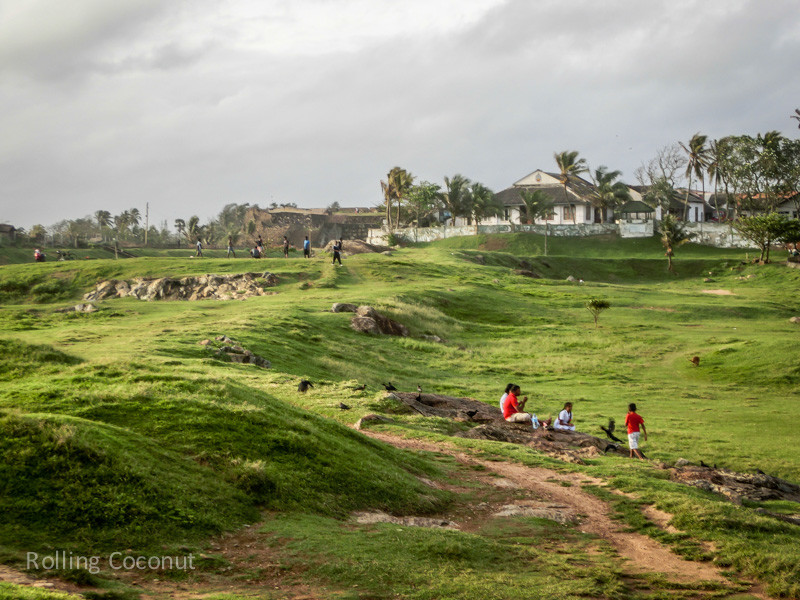 Galle Fort Green Field Sri Lanka ooaworld Rolling Coconut Photo Ooaworld