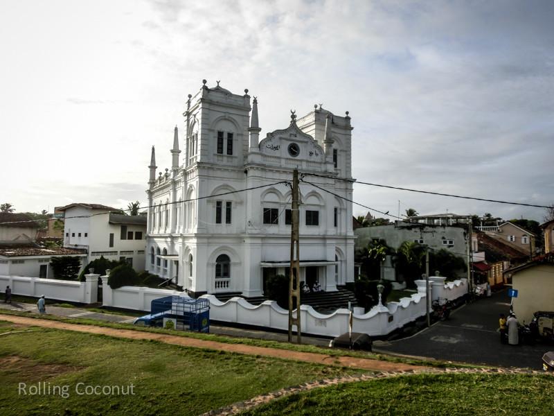 Galle Fort Mosque Sri Lanka ooaworld Rolling Coconut Photo Ooaworld