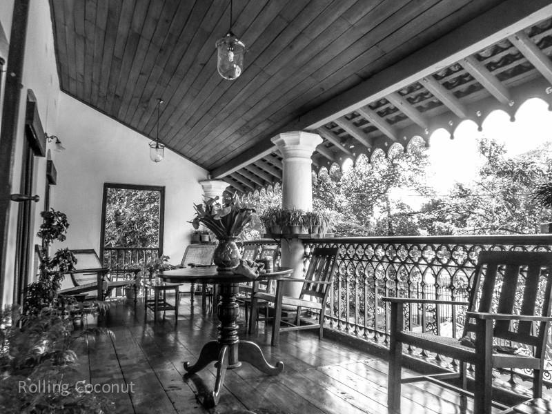 Kandy Olde Empire Hotel Terrace Sri Lanka ooaworld Rolling Coconut Photo Ooaworld