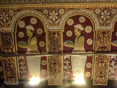 Kandy Temple of the Tooth Wall Painting Sri Lanka ooaworld Rolling Coconut Photo Ooaworld