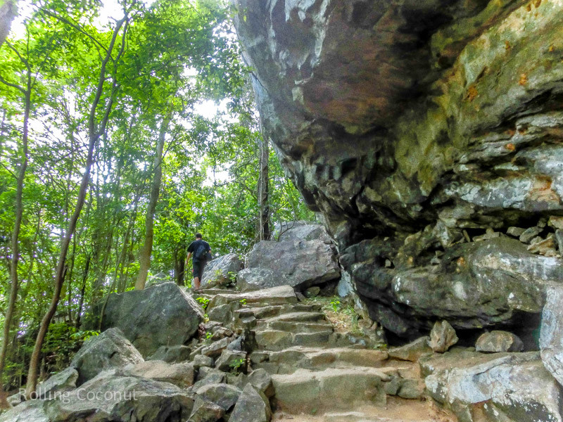 Paved Way Up Pidurangala to Sigiriya Sri Lanka ooaworld Rolling Coconut Photo Ooaworld