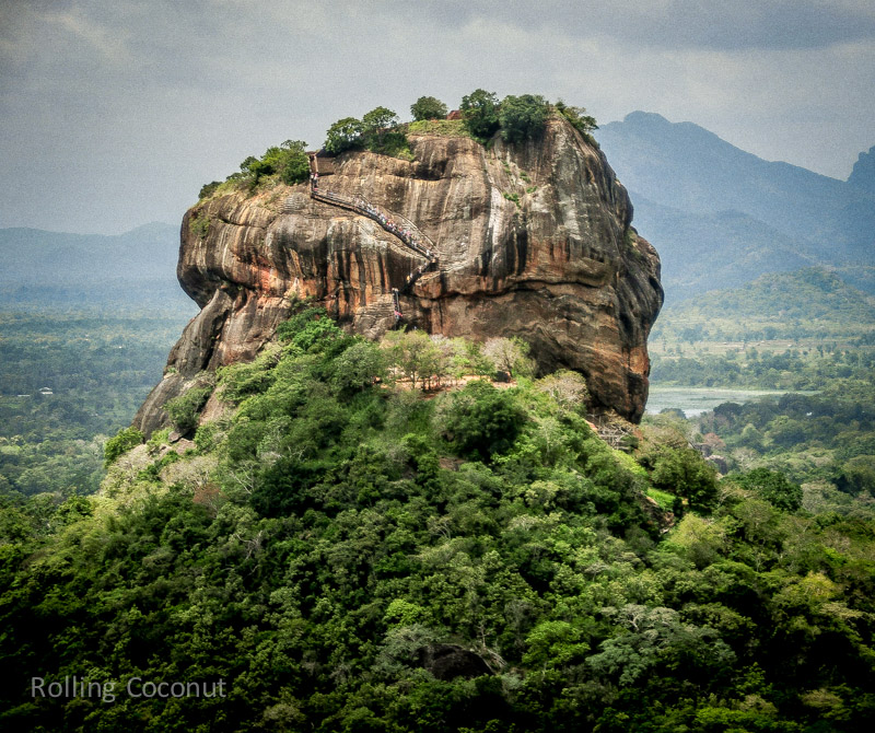 Sigiriya View from Pidurangala Sri Lanka ooaworld Rolling Coconut Photo Ooaworld