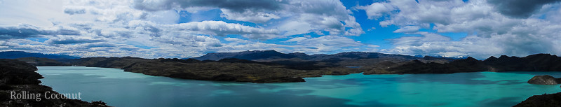 Torres del Paine Chile Lake Panorama Rolling Coconut OOAworld Photo Ooaworld